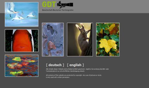 Zur Seite der Gesellschaft deutscher Tierfotografen - Foto: Screenshot